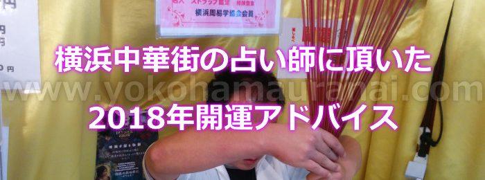 横浜中華街の占い師さんに頂いた2018年開運するためのアドバイスとは!?