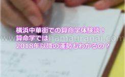 横浜中華街での算命学体験談!算命学では2018年以降の運勢もわかるの?