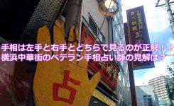 手相は左手と右手とどちらで見るのが正解!?横浜中華街のベテラン手相占い師の見解は?